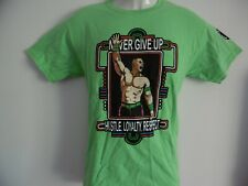 *NEW* JOHN CENA WWE NEVER GIVE UP YOU CAN'T SEE ME T SHIRT GREEN YOUTHS 36""