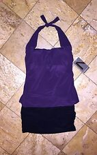 NWT Magicsuit Miraclesuit Purple Swim Skirt Tankini Set Swimsuit DD Women's 12