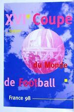 Encart  1er jour TOULOUSE   Football  France 98 bloc 4 timbres notice