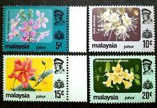 Malaysia 1984 Johor Flowers Complete Set - 4v MNH