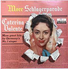 CATERINA VALENTE More Schlagerparade ORIGINAL 1960 American Decca VINYL LP