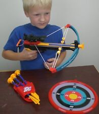 Kids Pistol Toy Crossbow Cross Bow Archery Gun with Suction Cup Arrows