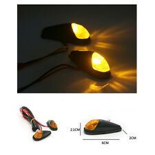 2PCS 12V 5W Amber Motorcycle Mini LED Turn Signal Indicator Light Waterproof