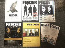 FEEDER live in Japan 2003-2009 amazing mini-poster SET of 7 concert tour MINT
