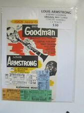Benny Goodman Louis Armstrong handbill and 4 tickets May 5 1953 Buffalo Ny