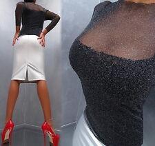 Unique Transparent Black NeU 2018 Damen Sexy Fit Shirt Hemd M12 Blouse Bluse L
