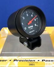 "Auto Meter 2891 Z-Series Mini Pedestal 2 5/8"" Tachometer Tach   0-6000 RPM"