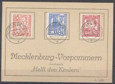 SBZ, Karte mit Mi.Nr. 26-28, Freimarken 1945 geprüft BPP (30676)