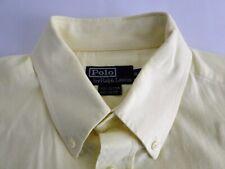Polo Ralph Lauren Classic Fit Herren Hemd Langarm Gelb Unifarben Gr. 16,5