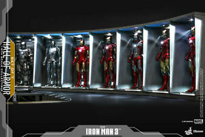 HOT TOYS Marvel Iron Man Hall of Armor Set of 7 1:6 Scale Accessory