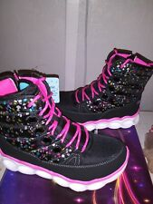 Skechers Boots Girls Light Up black Sz 3