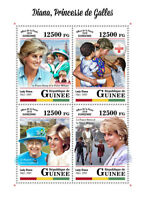 Guinea 2018 MNH Princess Diana of Wales 4v M/S Big Ben Red Cross Royalty Stamps