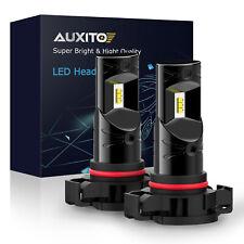 2X Auxito Ps24W H16 5202 Super White Led Fog Light Car Driving Bulb Lamp 6000K