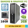 PC RICONDIZIONATO HP ELITE 8300 SFF QUAD CORE i7 SSD 250GB RAM 16GB WI-FI WIN 10