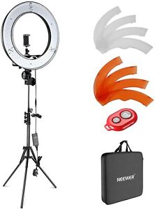 """Neewer 18"""" inches Outer Dimmable Lightning Kit LED Ring Light Camera Photo Video"""