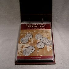 Early 20th Century Ten Cent Coins Postal Commemorative Mercury & Barber  Dimes