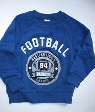 Gymboree Junior Linebacker Blue Football Pullover Sweatshirt Top Boys XS 4T VGUC