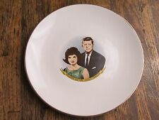 Vintage President And Mrs. John F. Kennedy Gold Trimmed Collector Plate