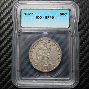 1877 Seated Liberty Half Dollar ICG XF40