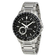 Citizen Eco Drive Black Dial Stainless Steel Mens Watch CC3005-85E