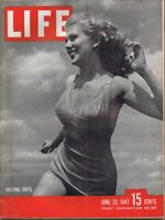 ORIGINAL Vintage Life Magazine June 23 1947 Bathing Suits Swimsuit Cover