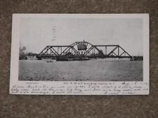 RPPC, R.W. & O. Swing Bridge, Charlotte, N.Y., used Vintage card