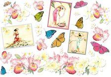 Papier de riz DFS053 Hibiscus Papillon Decoupage Rice Paper Flowers serviette