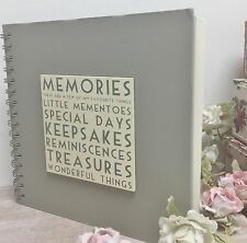 East of India Vintage Chic Guest Book Memories Photo Scrapbook Album Wedding