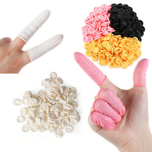 LATEX FINGER COTS CHOICE OF COLOUR/QUANTITIES MEDICAL DRESSING TOUCH PROTECTION