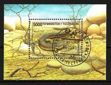 Animaux Tadjikistan reptile (82) bloc oblitéré