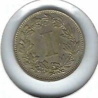 1883-Mo Mexican Uncirculated 1 Centavo Coin