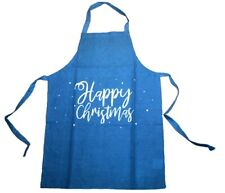 Christmas Adults Chef Apron Kitchen Cooking Baking Crafts 100% Cotton HAPPY XMAS