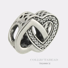 Authentic Pandora Sterling Silver Entwined Love Bead 791880CZ