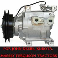 A/C Compressor 6A671-97110 6A671-97114 For KUBOTA TRACTORS & A/C Clutch US STOCK