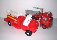LITTLE TIKES FIRE TRUCK & Disney Pixar Cars RED Radiator Springs Fire Truck
