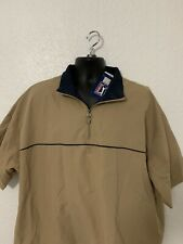 Nwt Pga Tour Tan Golf Jacket Shirt Sleeve Windbreaker Mens Xl Rain jacket