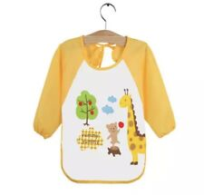 Baby Long Sleeve Bib /Art Smock /Apron Water Resistant Feeding Toddler /Kids