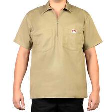 ORIGINAL BEN DAVIS HALF ZIP SLEEVE SHIRT SOLID KHAKI BEIGE (Workwear since 1935)
