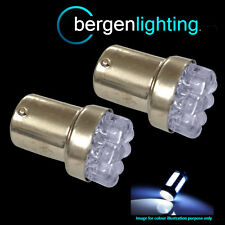 207 1156 BA15S 245 P21W XENO BIANCO 8 TESTATA LAMPADINE LUMINOSE A LED PER TARGA
