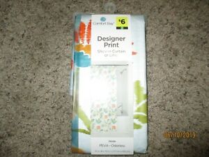 "Comfort Bay Designer Print Shower Curtain  70x72""  Drizzle  Peva Odorless"