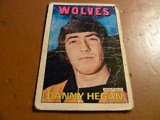A & A.C. Chicle Fútbol Tarjeta 1972/73 Rojo Naranja atrás Danny Hegan Lobos #46