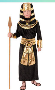 Kids Pharaoh Egyptian Costume King Tut Child Size Large 12-14