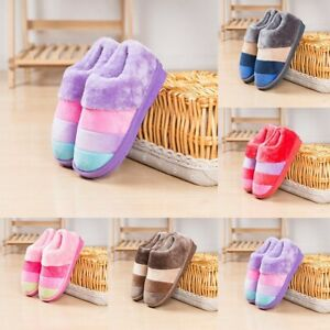 Autumn/Winter Striped Cotton Home Thick Warm With Men And Women Suede Slippers