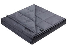 ZonLi Cooling Weighted Blanket 15lbs (48''x72'' Twin Size) Dark Grey