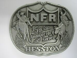 National Finals Rodeo Hesston 1983 NFR Adult Cowboy Buckle Vintage