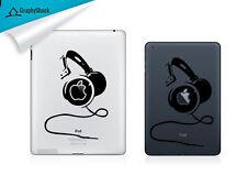Headphone iPad Decal Vinyl Tab Decals iPad Air Retina ask for iPad Mini
