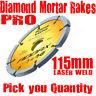 "2 x 115mm (4.5"")  LASER WELDED 10mm SEGMENT MORTAR POINTING RAKE DISCS , 22.2mm"