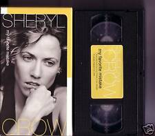SHERYL CROW My Favorite Mistake PROMO video VHS of CD
