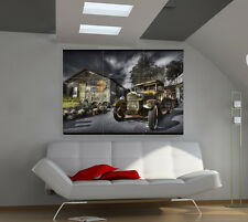"Vintage car Huge Art Giant Poster Wall Print 39""x57"" b664"