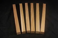 "6 piece Kiln Dry Red Elm 1 x 1 x 12"" Lathe Turning Pen Blanks Wood Craft Lumber"